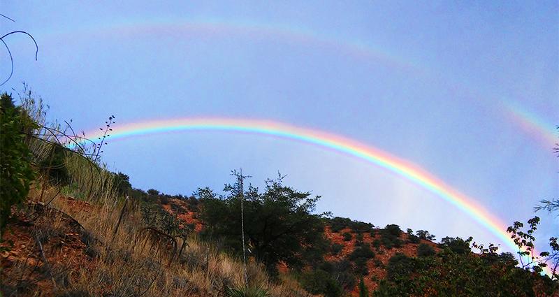bisbee double rainbow panorama